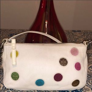 Coach Polka Dots Leather Shoulder Bag